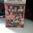 "UNCUT Butterick Sewing Pattern #5822 15"" & 18"" Bears w/moveable arms & legs"