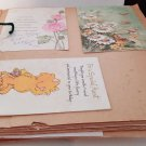 100 Vintage Used Greeting Cards Scrapbooking Birthday Getwell Anniversary