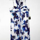 SL Fashions Dress Size 10 Watercolor Floral Print Babydoll Chiffon NWT $128