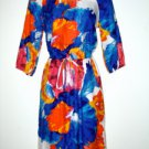 ECI NY New York Dress Size Sz 6 Silky Blouson Watercolor Floral Print New