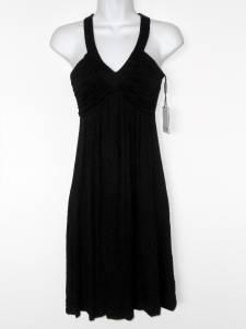 Calvin Klein Black Dress Size 4 Babydoll Sleeveless Stretch Knit Casual NWT