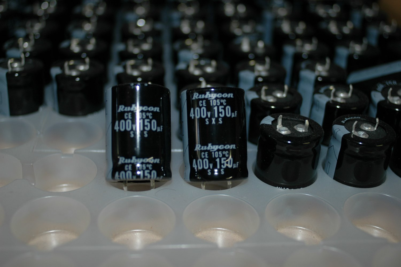 150uF 400V Rubycon SXS 105deg. C  6pcs. capacitors