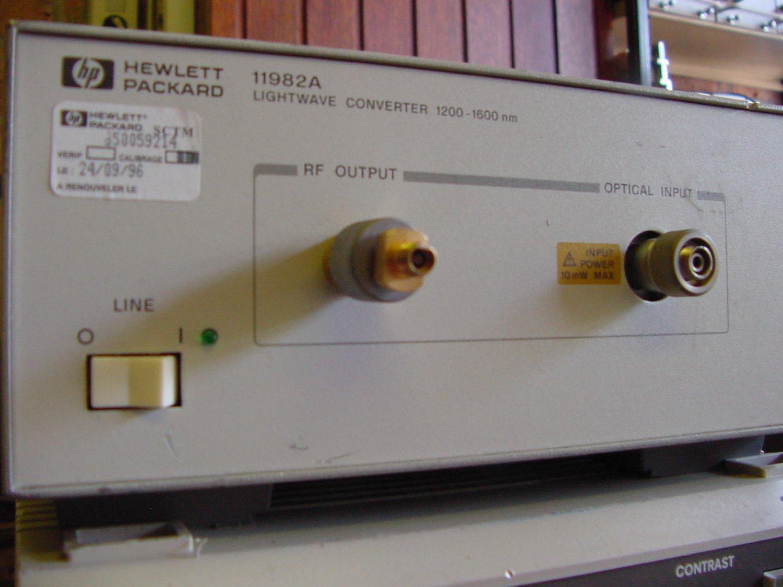 HP 11982A lightwave converter