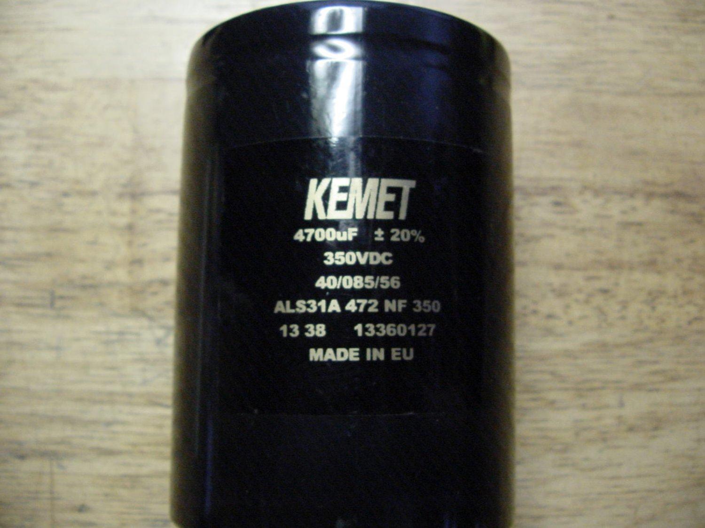 4700uF 350V KEMET 6pcs capacitors