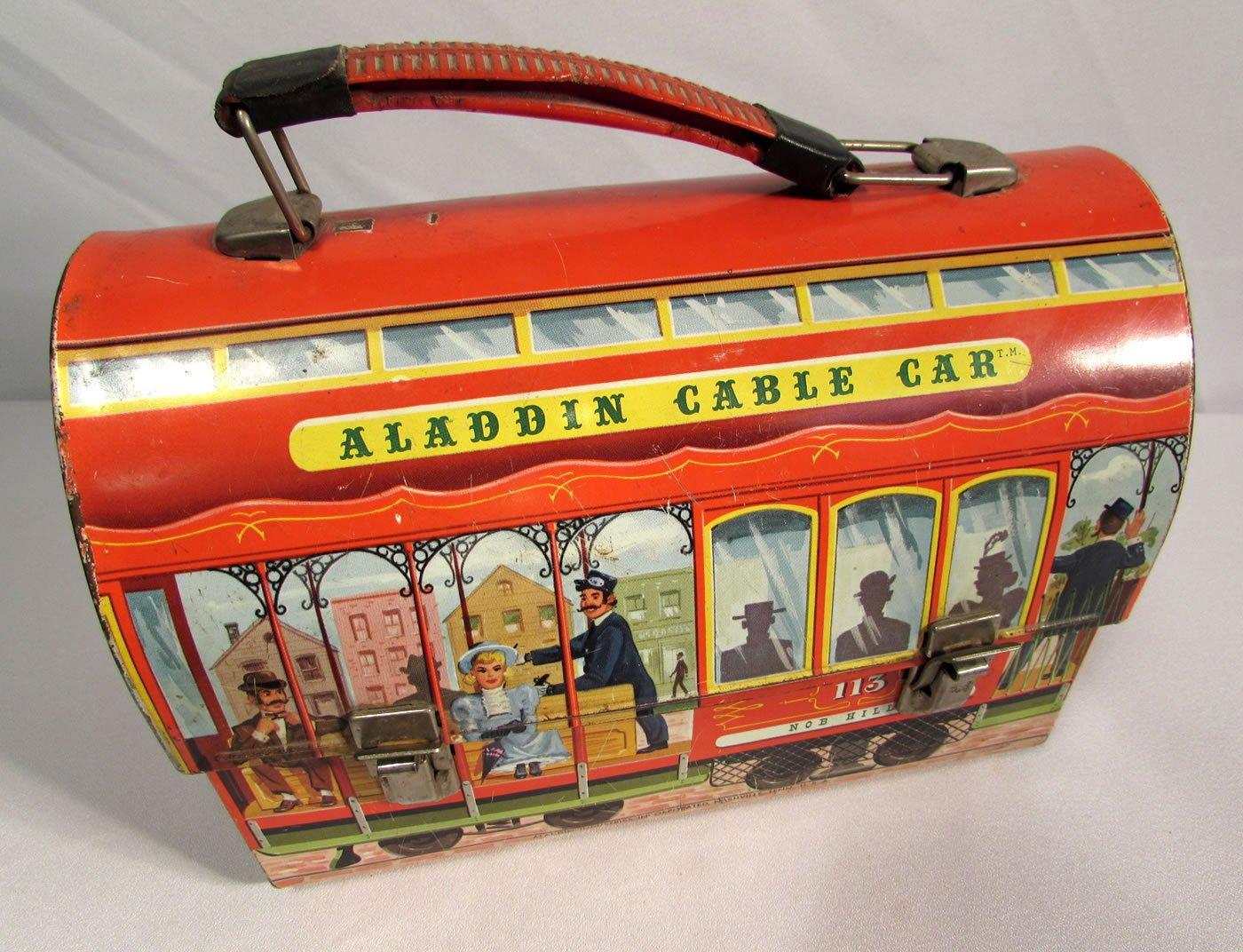 1952 Aladdin Industries Metal Lunch Box Aladdin Cable Car 113 Fisherman's Wharf