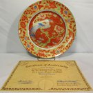 Anna Perenna Decorative Plate The Firebird Certificate of Authenticity #78