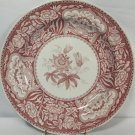 "Spode Archive Collection Georgian Series Floral 10.5"" Dinner Plate Cranberry"