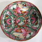 Vtg Japanese Porcelain Ware Hand Decorated in Hong Kong Rose Medallion Bowl