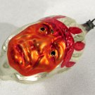 Vintage Mercury Glass Christmas Ornament Indian Head Red Grim Face Headdress