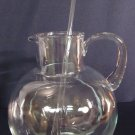 Vtg Tiffany & Co 96 oz. Blown Glass Pitcher & Stirrer Refresher Set VERY NICE