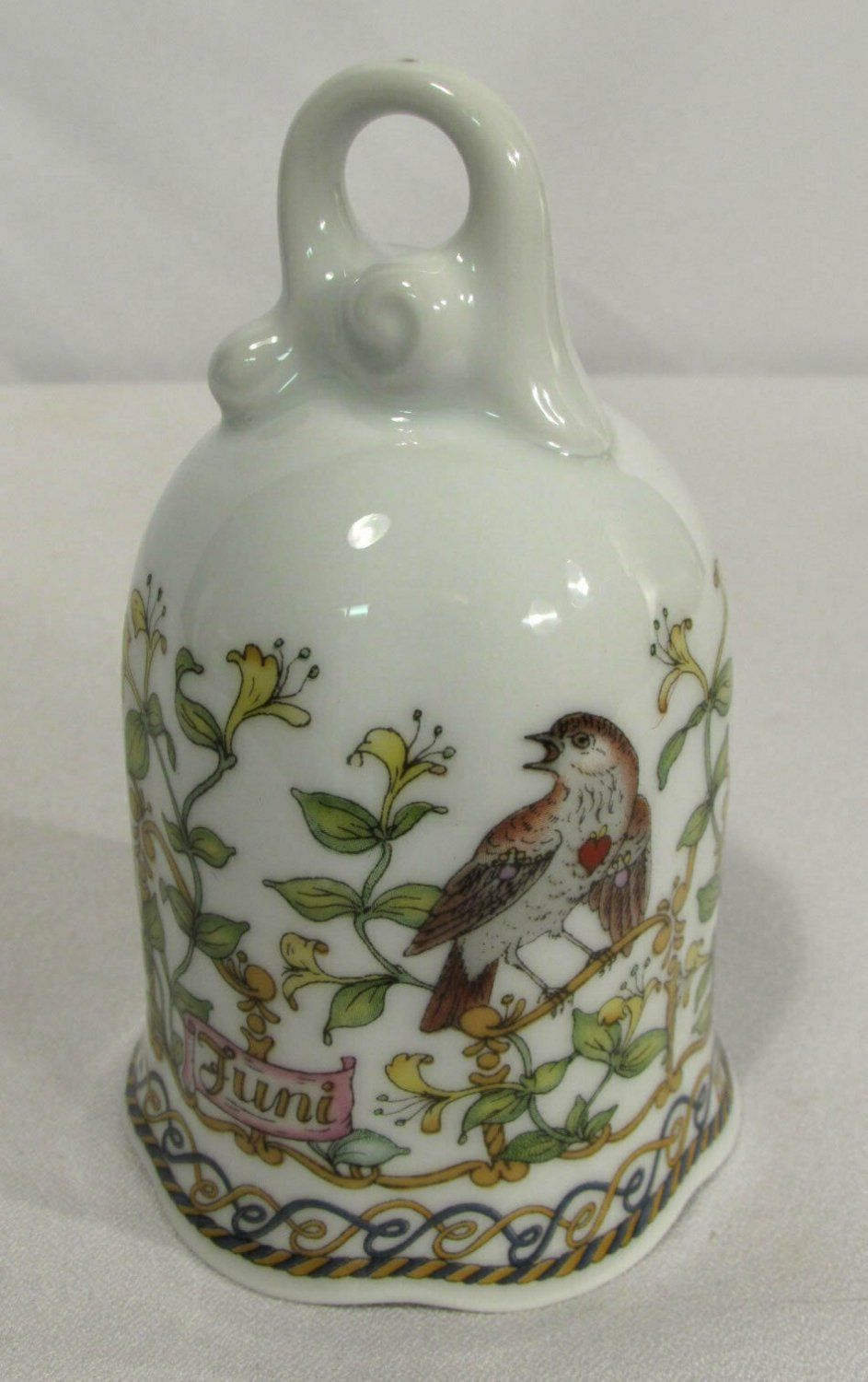 """Hutschenreuther Germany Fine China Ornament Bell """"Month of the Year"""" June"""