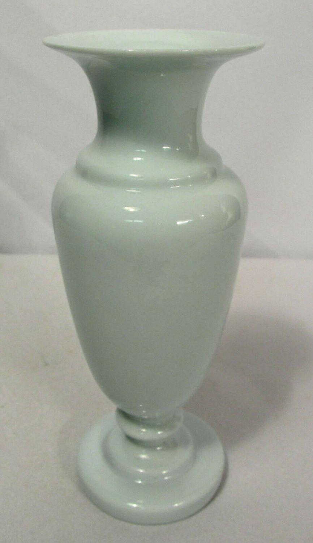 Antique White Opaque Bristol Glass Porcelain Vase 6 1/2 Inches