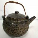 Japanese Teapot with Jakatsu Glaze from Ryumonji Kilns 19 C Meiji Period Satsuma