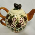 ZRIKE Stackable Teapot Mug for One Danna Cullen Figural Pinecone Design