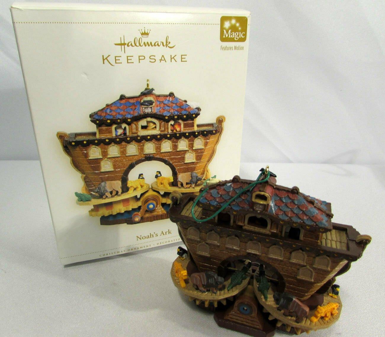 2006 Noah's Ark Motion Hallmark Keepsake Christmas Ornament NIB