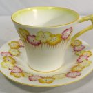 1930s Royal Albert Crown China Tea Cup & Saucer Corn Cockle Art Deco