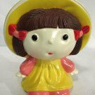 Vintage Novelty Radio Character Girl Doll Toy Yellow Pink Dress Unbranded WORKS