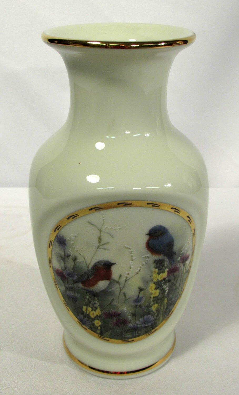 "Vintage Lenox 6"" Vase Summer Interlude Natures Collage Collection"