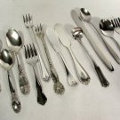 14 Pcs Mixed Silverplate Butter Knives Cocktail Forks Small Spoons Baby Set +