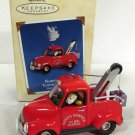 2002 Hallmark North PoleTowing Service 24th Santa Christmas Ornament MIB