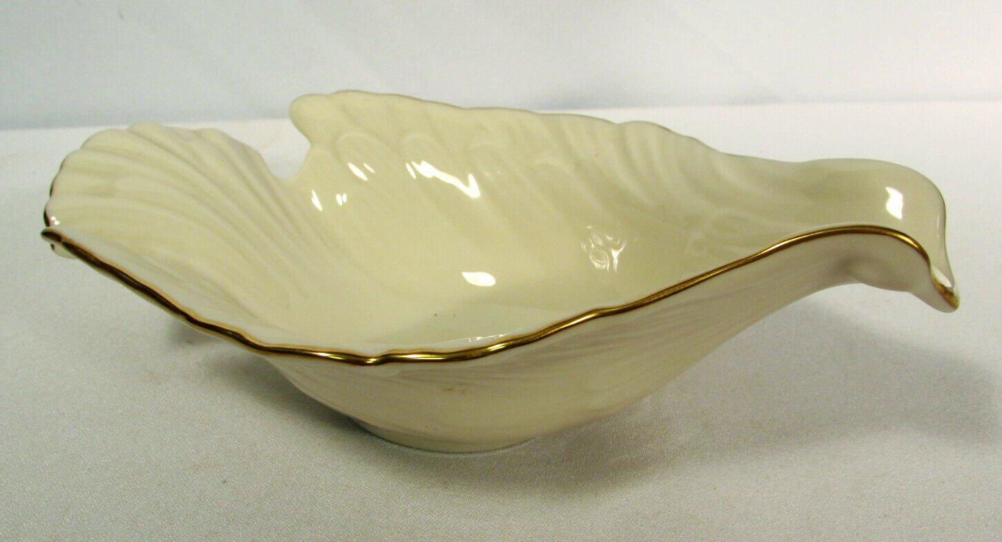 Vintage Lenox Candy Dish Dove Collection Gold Trim