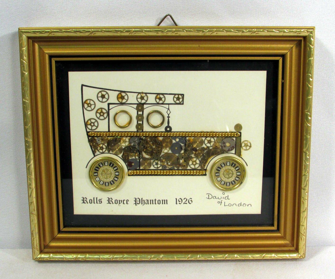 Rolls Royce Phantom 1926 David of London Horological Montage Watch Parts Framed