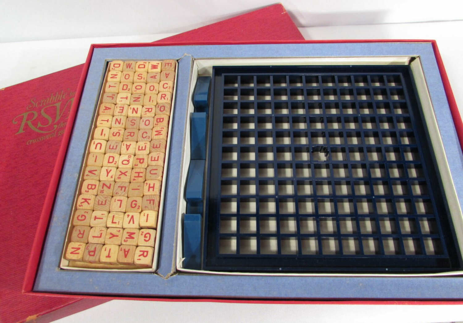 Vintage Scrabble RSVP Three Dimensional Crossword Game Selchow & Righter Co 1970