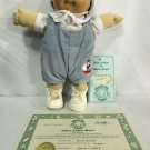 1984 Coleco Cabbage Patch Doll Preemie Black Sig. Vinyl Head Soft Body Sail Boat