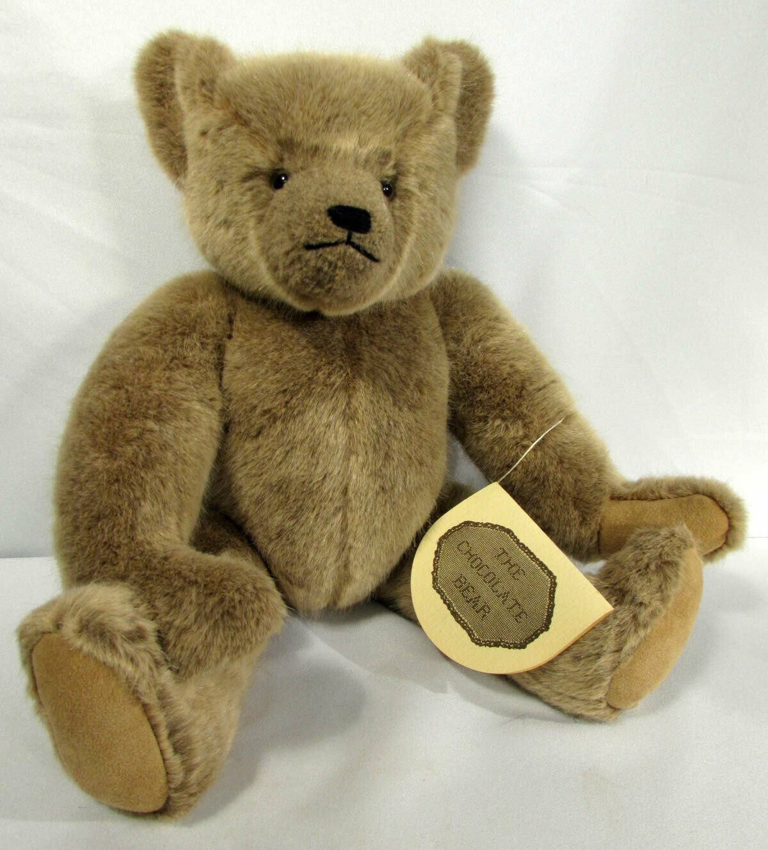 "Vintage Teddy Bear Jointed 1986 Catherine Bordi 18"" Brown ""Chocolate Bear"" #4073"