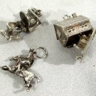 Vintage Silver Charms Hinged Hunters Moon Mission Horse Jockey Commode Toilet