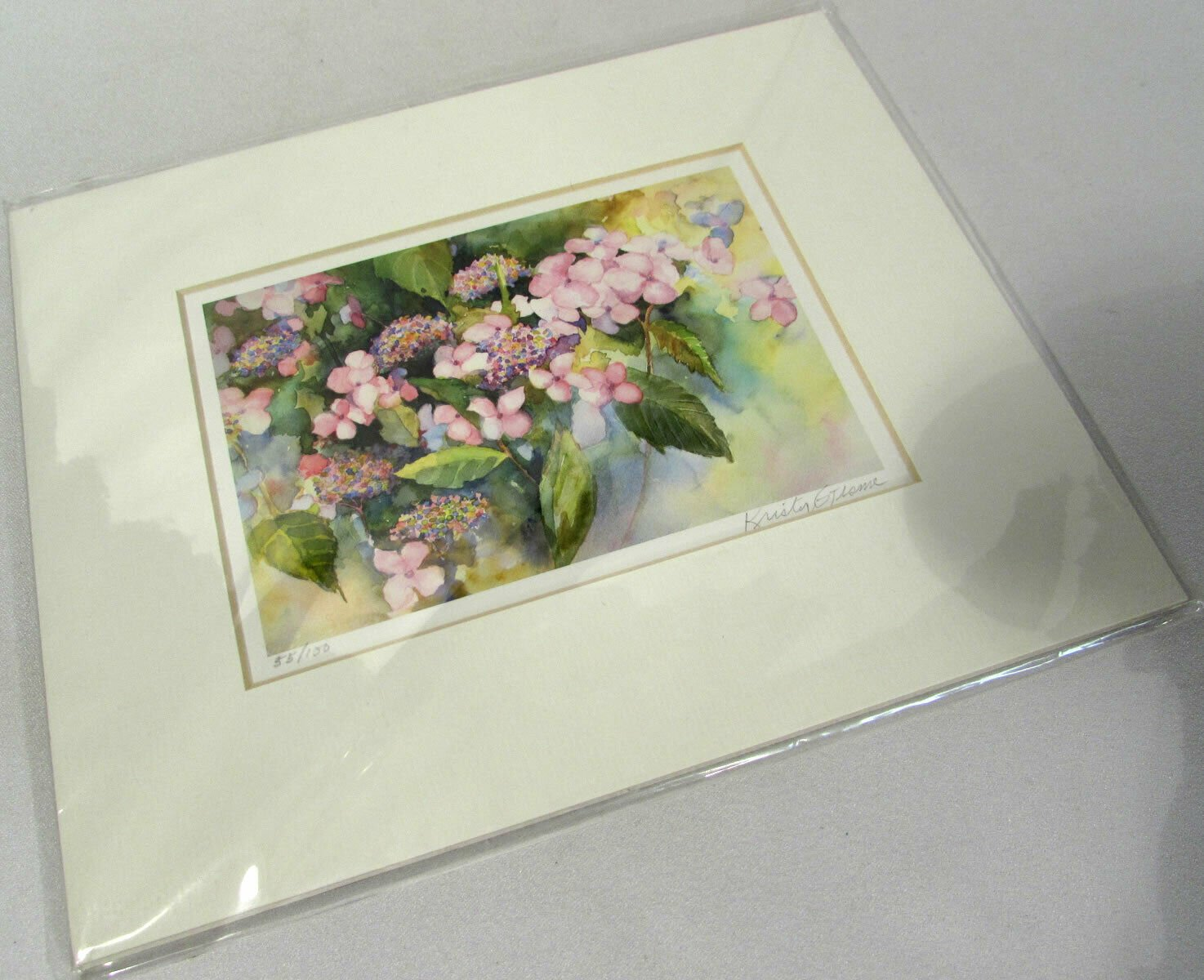 Kristy Gjesme Floral Watercolor Print Signed Numbered Limited Edition