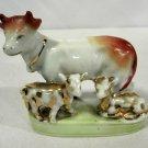 Vintage German Porcelain Cow Calf Calves Figurine Miniature