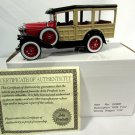 1929 Ford Woody Station Wagon Car Red 1:32 Diecast Model by Arko w/ Box