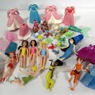 Lot of Disney Polly Pocket Dolls (9) Clothing Accessories Etc.