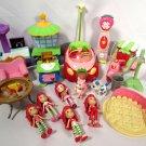 TCFC Hasbro Strawberry Shortcake Dolls (5) & Accessories Car Clock Stove Sink +