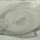 Vintage Oven Proof Glass Fish Shaped Platter Dish NICE