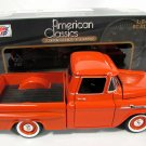 1958 Chevy Apache Fleetside Pickup Truck Red 1:24 Diecast Model Motormax w/ Box