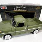 1969 Ford F-100 Pickup Truck Green 1:24 Diecast Model by Motormax w/ Box