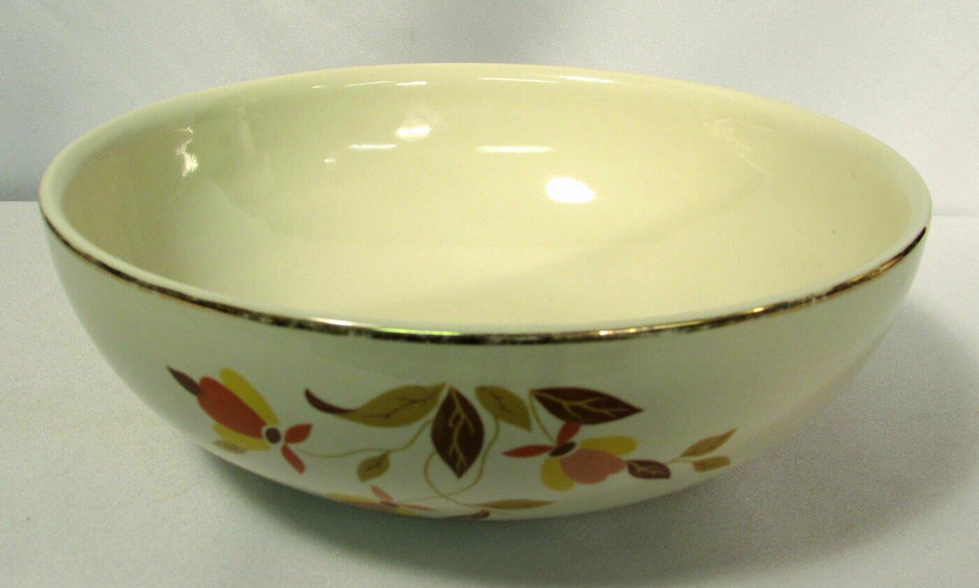 """Vintage Hall's Superior Jewel Tea Autumn Leaf 9"""" 2 Qt. Salad Bowl"""