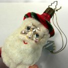 Glass Christmas Ornament Father Christmas Santa Head Whitehurst