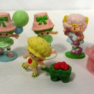 Vtg 1980s Strawberry Shortcake Lime Chiffon Mini Dolls Figures Cat A.G.C. (6)