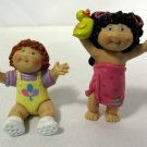 Vtg 1984 OAA Inc Cabbage Patch Kid Dolls PVC Miniatures (2)