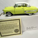 1954 Chevy Bel Air Sport Coupe Car Yellow 1:32 Diecast Model by Arko w/ Box