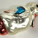 Vintage Glass Christmas Ornament Duck German 3 Inches