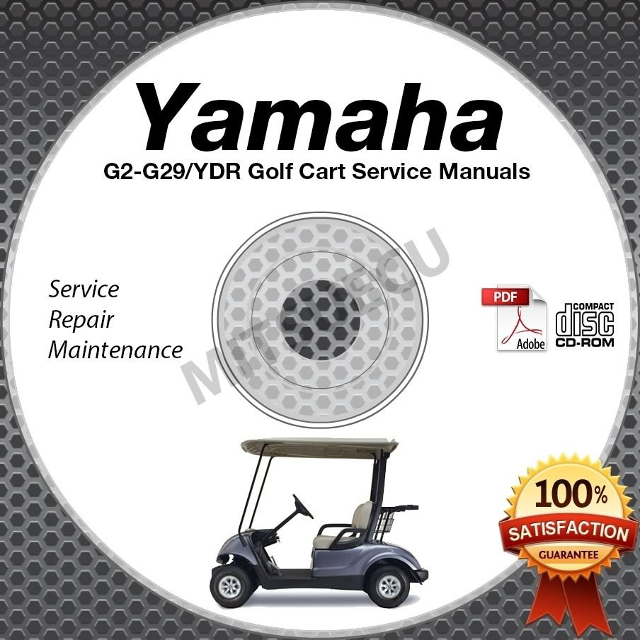 Yamaha Golf Cart Service Manual on DVD G2 G9 G11 G14 G16 G19 G20 G22 G29 YDR
