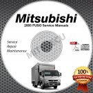 2005 Mitsubishi FUSO FE FG FK FM Service Manual CD ROM repair shop