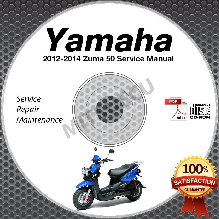 ... workshop service repair manual Array - 2012 2013 2014 yamaha zuma 50  scooter service manual cd rom repair rh mmdl