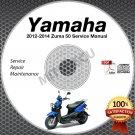 2012 2013 2014 Yamaha ZUMA 50 Scooter Service Manual CD ROM repair shop YW50