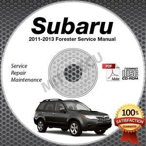 2011-2013 SUBARU FORESTER Service Manual CD ROM 2.5L 2012  repair workshop X XT