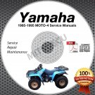 1985-1995 Yamaha MOTO-4 YFM200/225/250/350 (all) Service Manual CD ROM repair